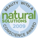 Natural Solutions Beauty with a Conscience Award 2009